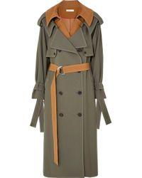 ADEAM - Layered Wool-blend Gabardine Trench Coat - Lyst