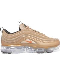 Nike - Air Vapormax 97 Metallic Faux Leather And Mesh Sneakers - Lyst