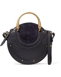 Chloé | Pixie Small Suede And Textured-leather Shoulder Bag | Lyst