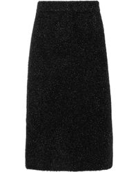CALVIN KLEIN 205W39NYC - Lurex Midi Skirt - Lyst