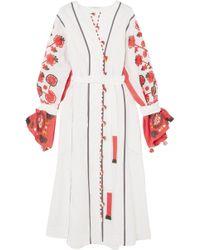 Eres - + Vita Kin Sicily Embroidered Linen Dress - Lyst