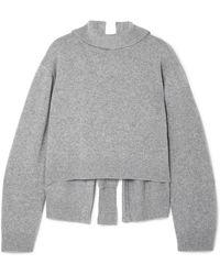 Rejina Pyo - Amanda Tie-back Wool-blend Turtleneck Sweater - Lyst