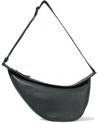 The Row - Slouchy Banana Textured-leather Shoulder Bag - Lyst