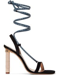 463aa9d419d Jacquemus - Bergamo Suede And Leather Sandals - Lyst