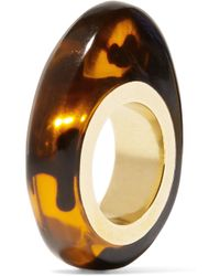 Dinosaur Designs - Tortoiseshell Resin And Gold-tone Ring Tortoiseshell M - Lyst