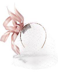 Philip Treacy - Crystal-embellished Mesh And Buntal Fascinator - Lyst