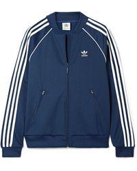 ca13ef487c2a adidas Originals - Superstar Striped Satin-jersey Track Jacket - Lyst