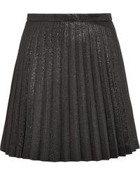 J.Crew - Sweetbriar Pleated Cotton-blend Lamé Mini Skirt - Lyst