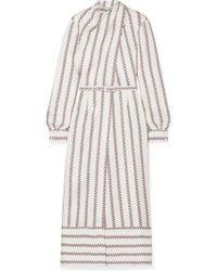 Gabriela Hearst - Josefina Printed Silk-satin Midi Dress - Lyst