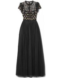 Needle & Thread - Rococo Sequin-embellished Point D'esprit And Embroidered Tulle Gown - Lyst