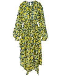 Preen Line - Eden Asymmetric Ruffled Floral-print Crepe De Chine Dress - Lyst
