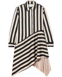 Marques'Almeida - Striped Asymmetric Shirt Dress - Lyst