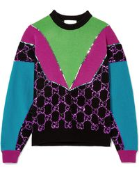 Gucci - Sequin-embellished Wool Sweater - Lyst