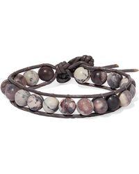 Chan Luu - Leather, Silver And Jasper Bracelet - Lyst