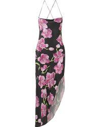 Haney | Goldie Asymmetric Floral-print Silk Crepe De Chine Maxi Dress | Lyst
