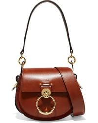 Chloé - Tess Leather And Suede Shoulder Bag - Lyst