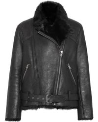 IRO - Mantaa Textured-leather And Shearling Coat - Lyst