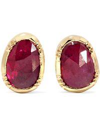 Brooke Gregson - Orbit 18-karat Gold Ruby Earrings - Lyst