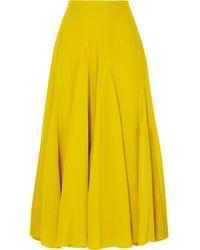 Haider Ackermann - Pleated Silk Crepe De Chine Midi Skirt - Lyst