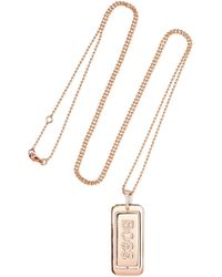 Diane Kordas - Boss Lady 18-karat Rose Gold Diamond Necklace - Lyst