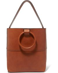 Theory - Hoop Leather Tote - Lyst