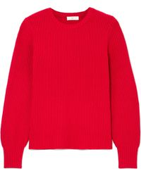 Tory Burch - Kennedy Ribbed-knit Sweater - Lyst