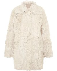 Tory Burch - Everly Reversible Shearling Coat - Lyst