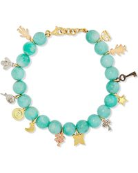 Carolina Bucci - Recharmed Lucky 18-karat Yellow, Rose And White Gold And Amazonite Bracelet - Lyst