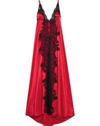 Rosamosario - Madame Shehu Lace-paneled Silk-satin Nightdress - Lyst 459dc765f