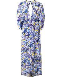 Jaline - Kelly Wrap-effect Printed Silk Crepe De Chine Midi Dress - Lyst
