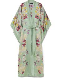 Meng | Printed Silk-satin Robe | Lyst