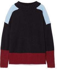 Chinti & Parker - Comfort Oversized Color-block Cashmere Sweater - Lyst