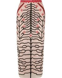 Temperley London - Canopy Embroidered Tulle Pencil Skirt - Lyst