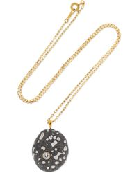 CVC Stones - 18-karat Gold, Stone And Diamond Necklace - Lyst