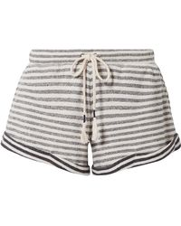 Skin - Clooney Striped Cotton-jersey Pajama Shorts - Lyst