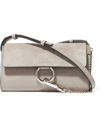 Chloé - Faye Mini Leather And Suede Shoulder Bag - Lyst