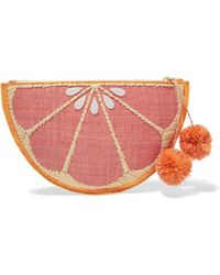 Kayu - Pomelo Woven Straw Pouch - Lyst