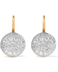 Pomellato - Sabbia 18-karat Rose Gold Diamond Earrings - Lyst