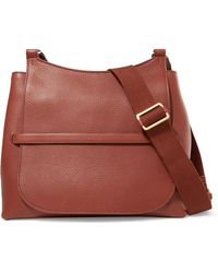 The Row - Sideby Textured-leather Shoulder Bag - Lyst