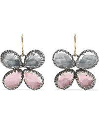 Larkspur & Hawk - Sadie Butterfly Rhodium-dipped Quartz Earrings - Lyst