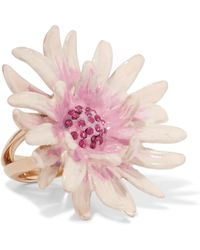 Etro - Gold-tone And Enamel Crystal Ring - Lyst