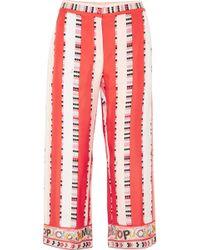 Emilio Pucci - Printed Silk-twill Trousers - Lyst