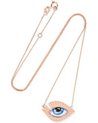 Lito | Tu Es Partout 14-karat Rose Gold Enamel Necklace | Lyst