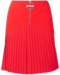 Givenchy - Zip Front Pleated Mini Skirt - Lyst