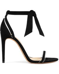Alexandre Birman - Clarita Bow-embellished Suede And Pvc Sandals - Lyst