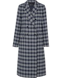 Vanessa Seward - Dorian Double-breasted Checked Cotton-blend Tweed Coat - Lyst