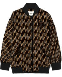 Fendi - Oversized Flocked Silk-blend Jacquard Bomber Jacket - Lyst