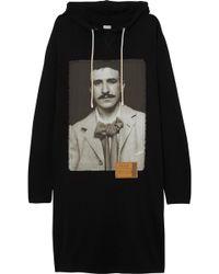 Loewe - Oversized Printed Cotton Sweatshirt Dress - Lyst