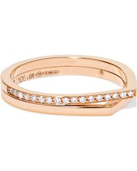 Repossi - Antifer 18-karat Rose Gold Diamond Ring Rose Gold 52 - Lyst