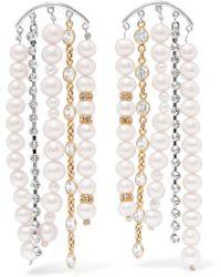 Magda Butrym - Narcissus Rhodium-plated, Pearl And Swarovski Crystal Earrings - Lyst